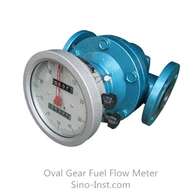 Fuel consumption oval gear kerosene flow meter