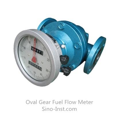 Fuel consumption oval gear kerosene flow meter