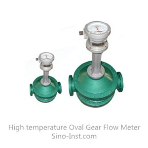 High temperature Oval gear mechanical asphalt analog flowmeter