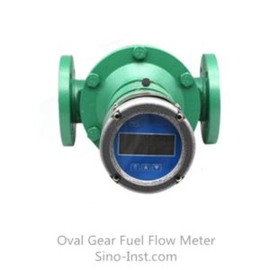 Positive displacement oval gear fuel flow meter with digital display