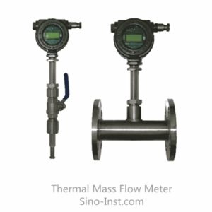 insertion and pipe type thermal mass flow meters