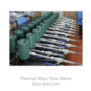 insertion type thermal mass flow meters