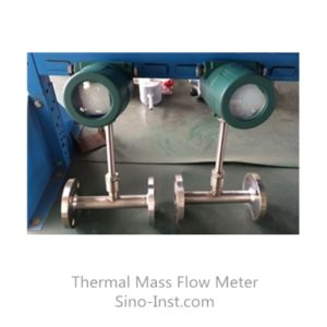 pipe type thermal mass flow meter