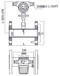 Thermal Mass Flow Meter installation