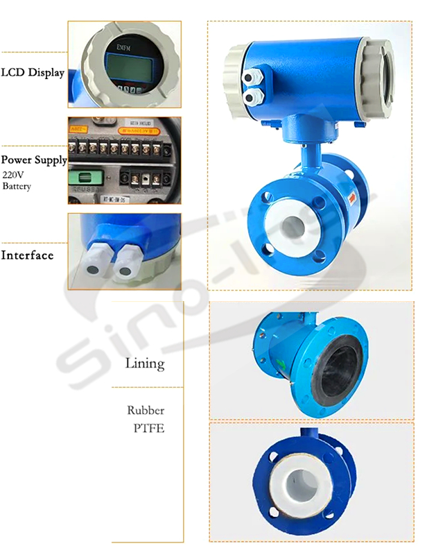 Electromagnetic Digital Water Flow Meter features