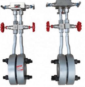 Integral orifice flow meter